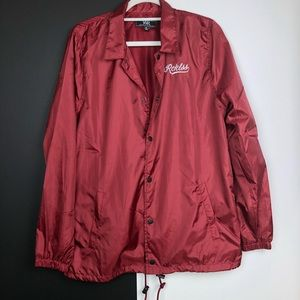Young & Reckless jacket. Burgundy. Size medium